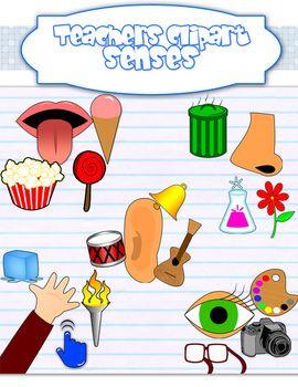 Five sight taste touch. 5 senses clipart teaching