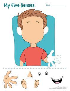 Five craft flip book. 5 senses clipart teaching