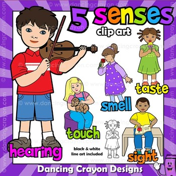 5 senses clipart toddler. Five clip art kids