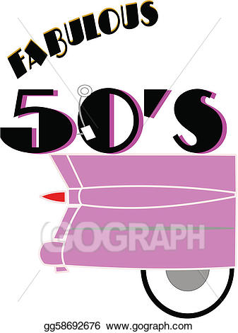 50s clipart. Vector art fabulous s