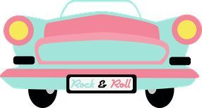 50s clipart 50's car. Rock roll clip art