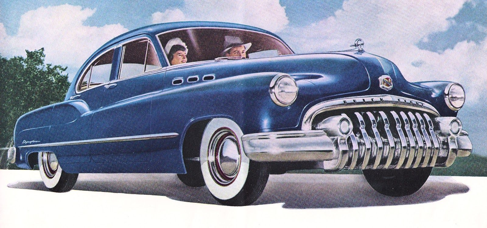 Rare classic s cars. 50s clipart 50's car