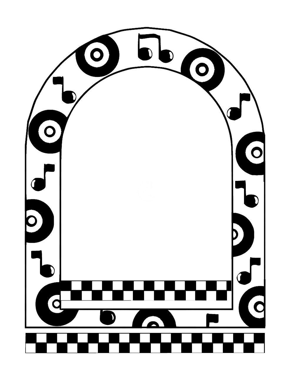 50s clipart border. Create with tlc fifties