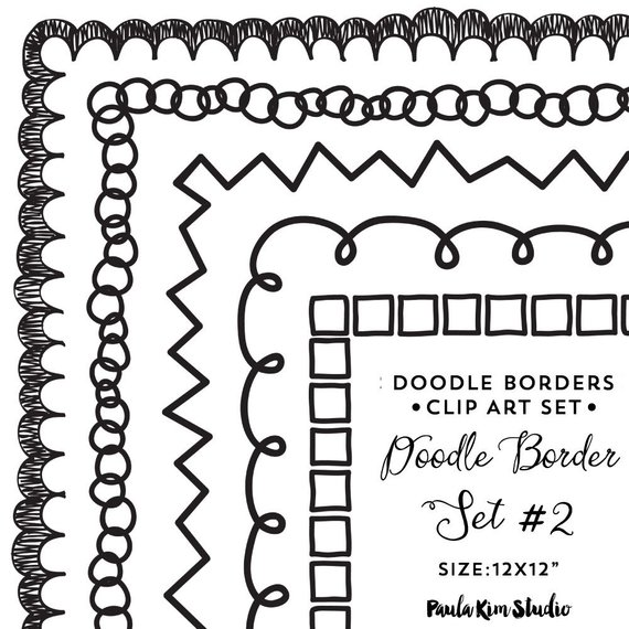 50s clipart border. Doodle clip art downloadable