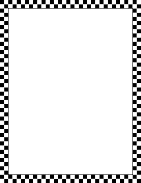 Printable black and white. 50s clipart border