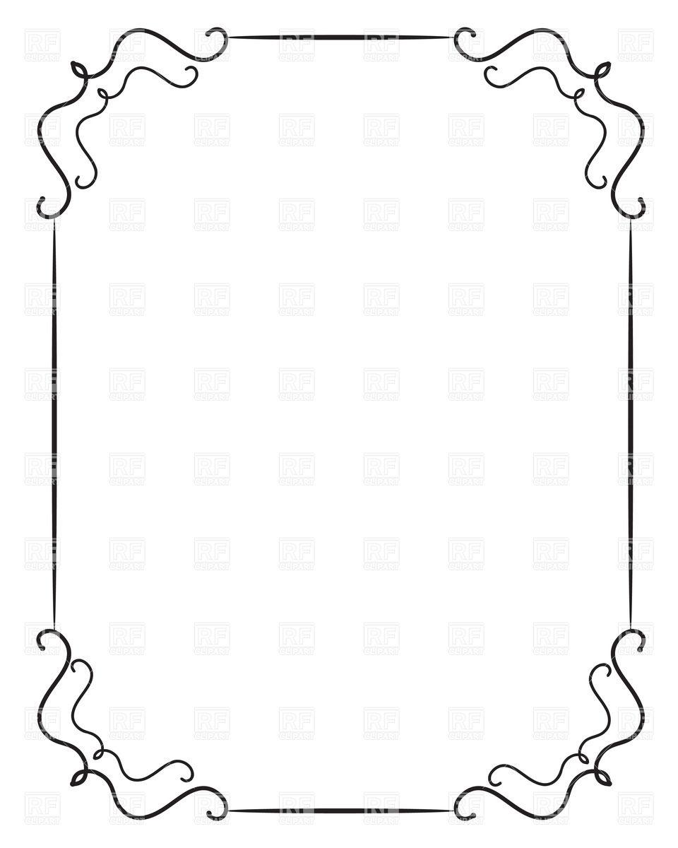 Retro s frames . 50s clipart border