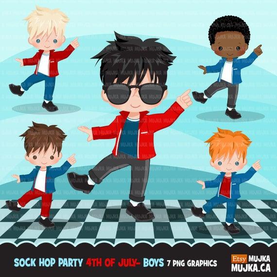 50s clipart boy. Sock hop party th