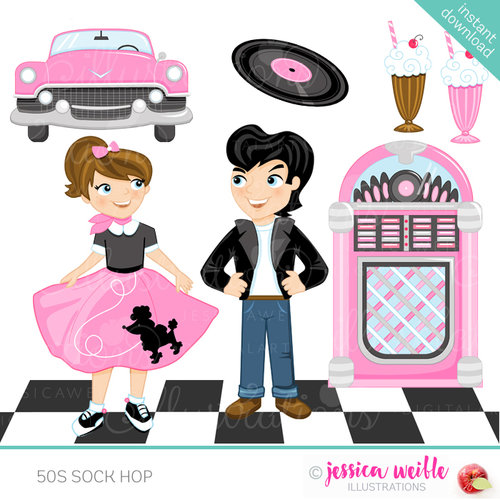 50s clipart day