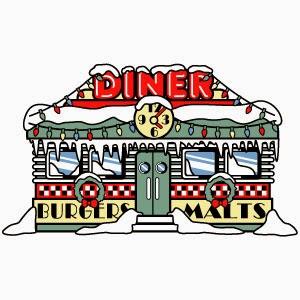 Clip art cartoon s. 50s clipart diner