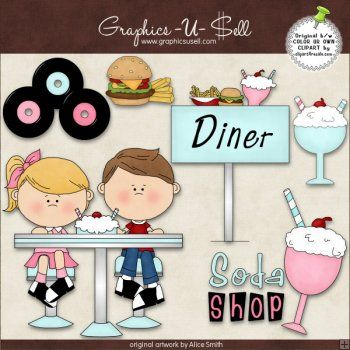 50s clipart diner.  s graphic collection