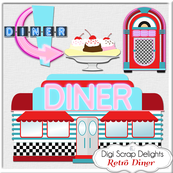 Free s diner cliparts. Dinner clipart retro