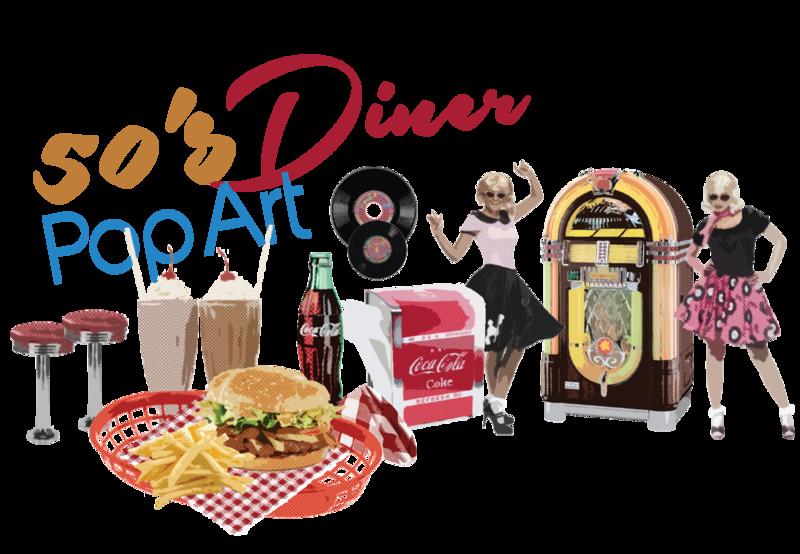s pop art. 50s clipart diner food