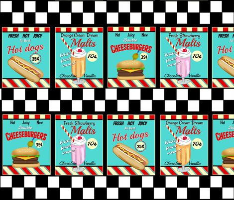 Fran s signs greasy. 50s clipart diner food