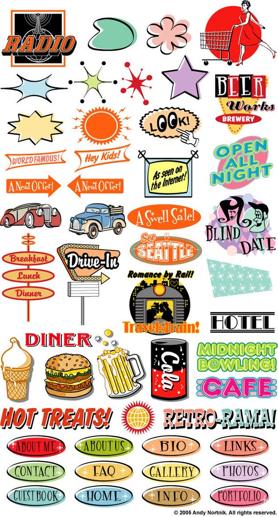 50s clipart diner food. Fifties clip art commercial