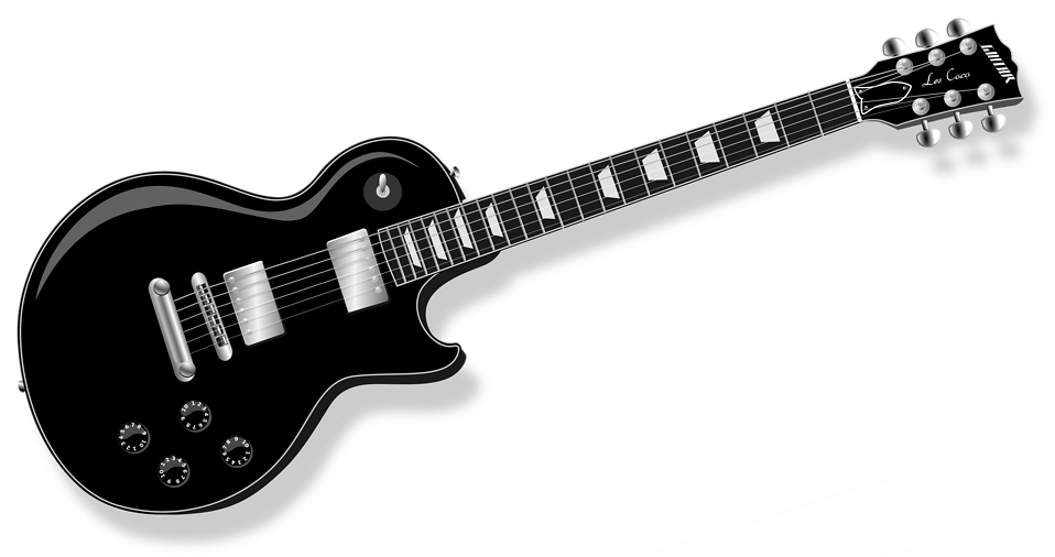Clipart guitar musical instrument. Free stock photo illustration