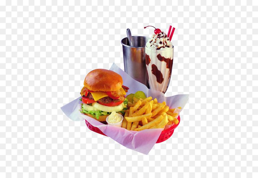 Junk cartoon milkshake . Hamburger clipart diner food