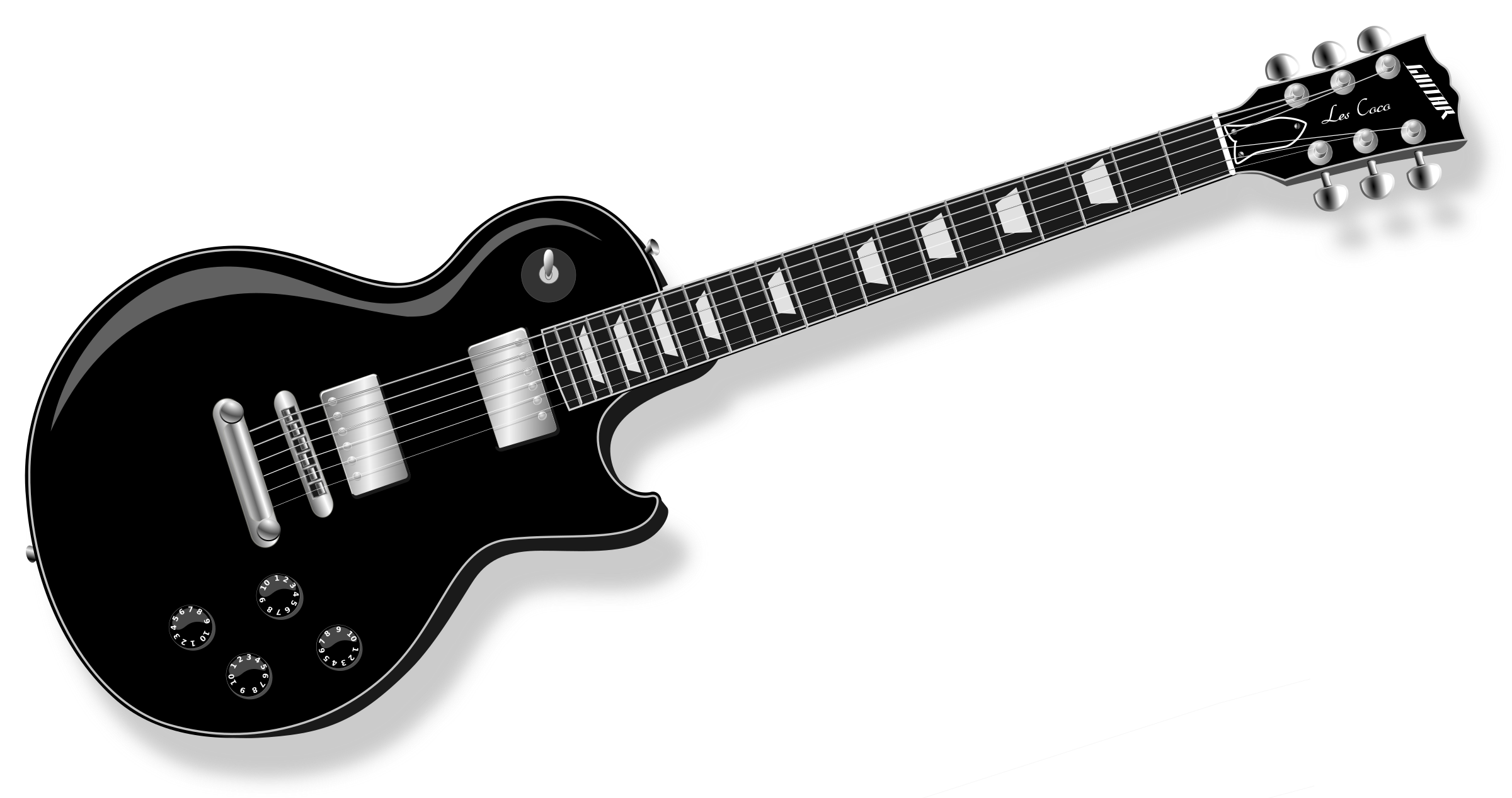 Clipart guitar cool guitar. Lp black big image