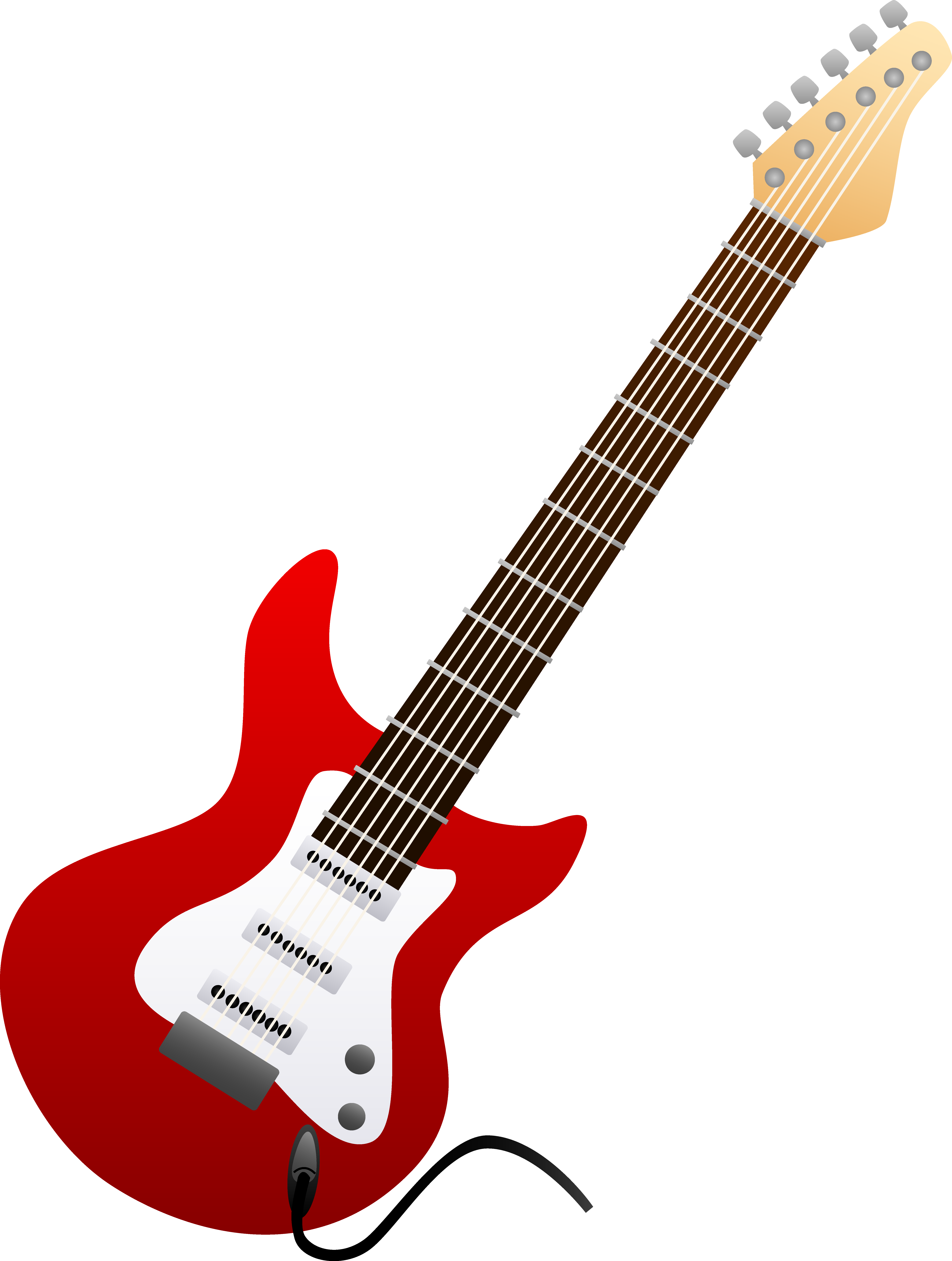 Clipart guitar 50's. Red electric clipartuse clip