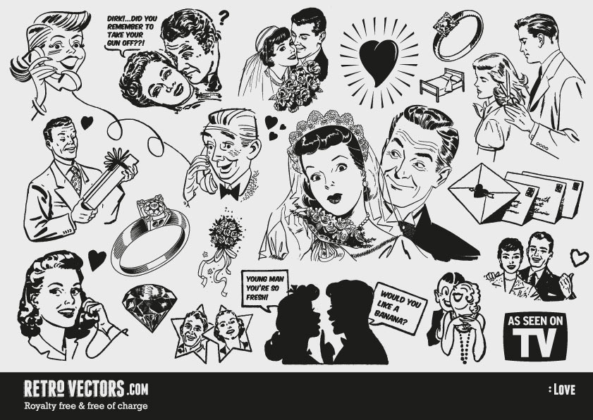Free retro s cliparts. Advertising clipart 50's
