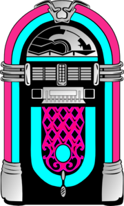 Pink and blue clip. Jukebox clipart