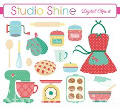 s cooking retro. 50s clipart kitchen