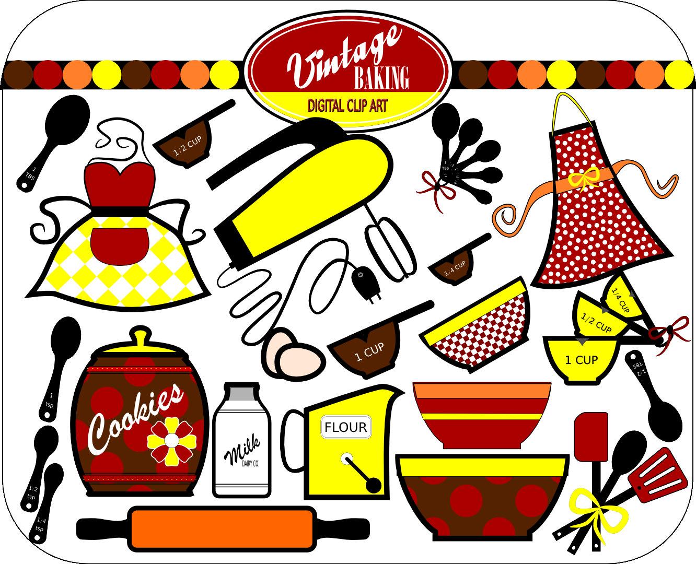 s. 50s clipart kitchen