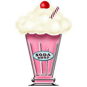 50s clipart milkshake. Ice cream cup clip