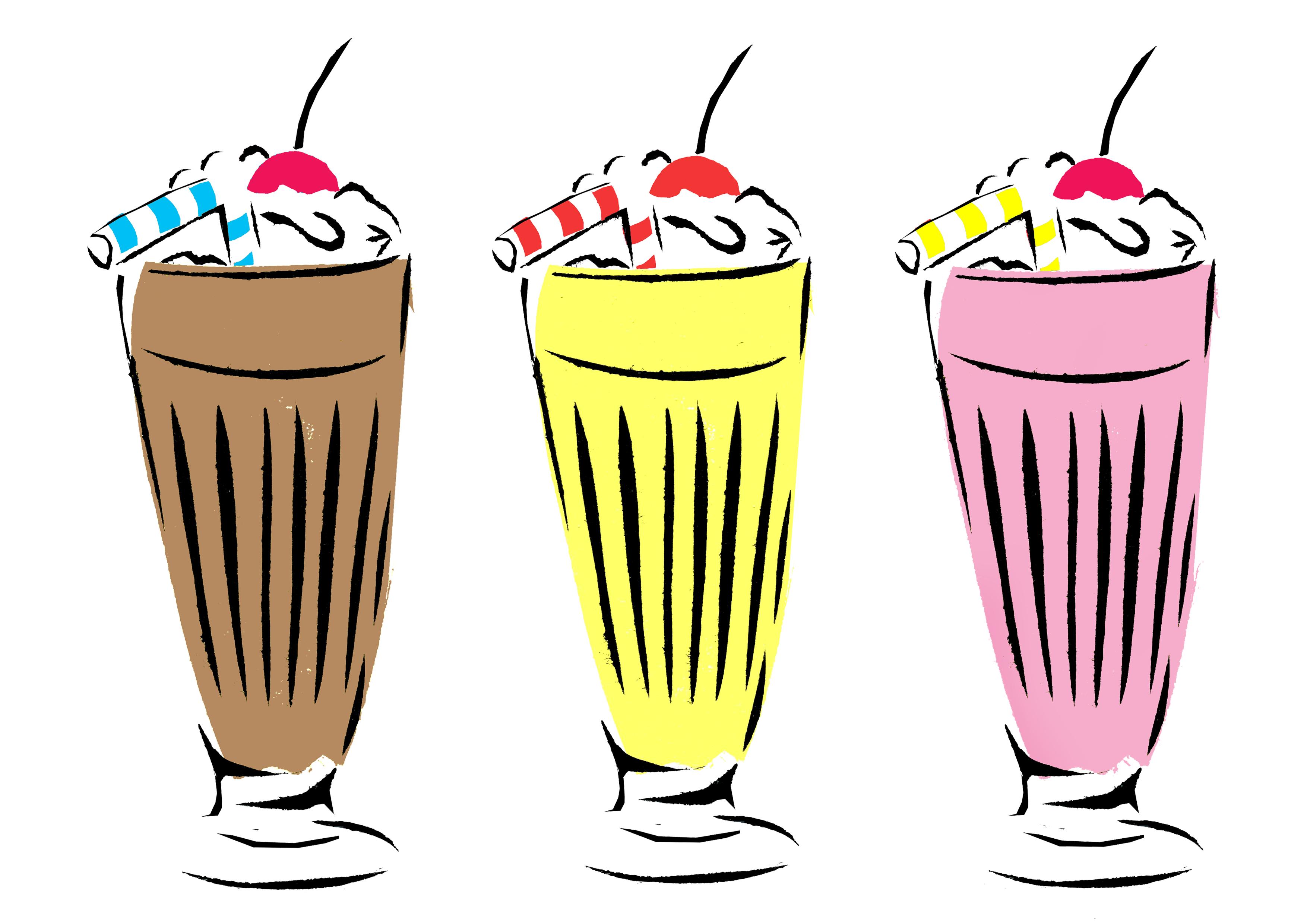 Picture free download best. Milkshake clipart 50's