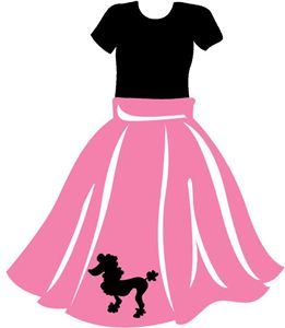 50s clipart poodle skirt