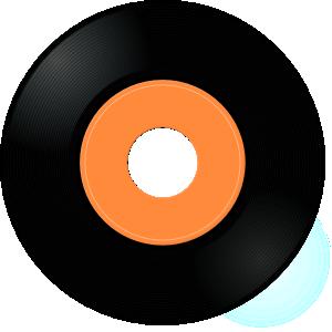 50s clipart record. Album clip art at