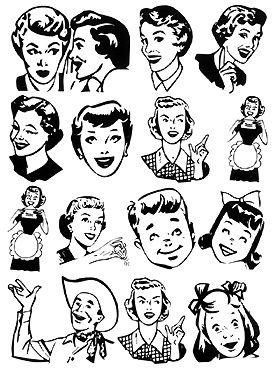 50s clipart retro.  best clip art