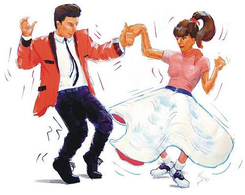 50s clipart rock n roll. Fifties and clip art