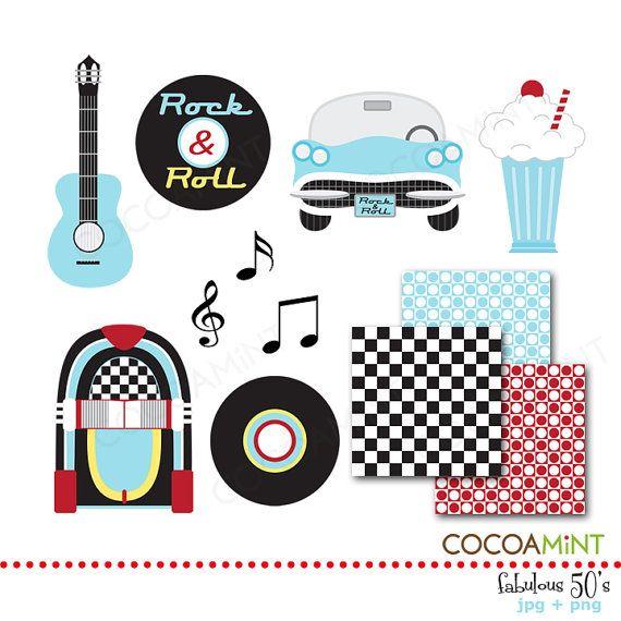 50s clipart rock n roll. More s clip art