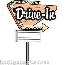 s drive in. 50s clipart sign
