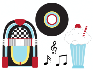 s diner cliparts. 50s clipart sign