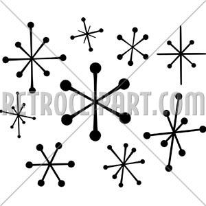 Retro stars retroclipart com. 50s clipart star