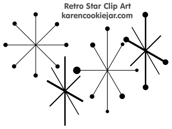 50s clipart star. Retro http karencookiejar com