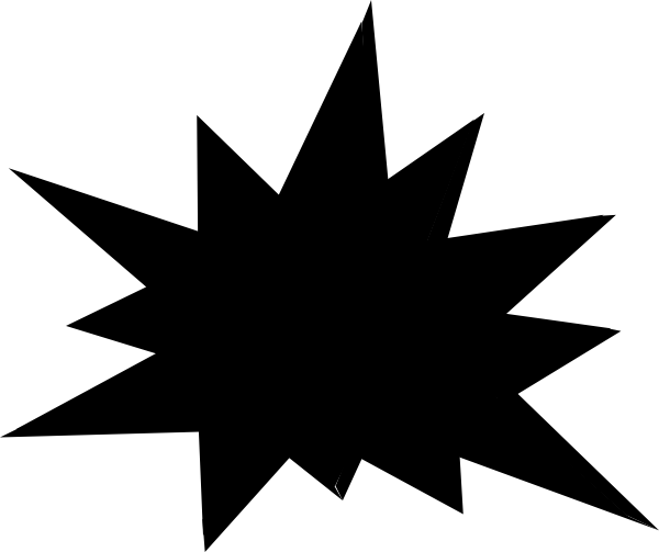 Starburst clip art outline. Burst clipart black