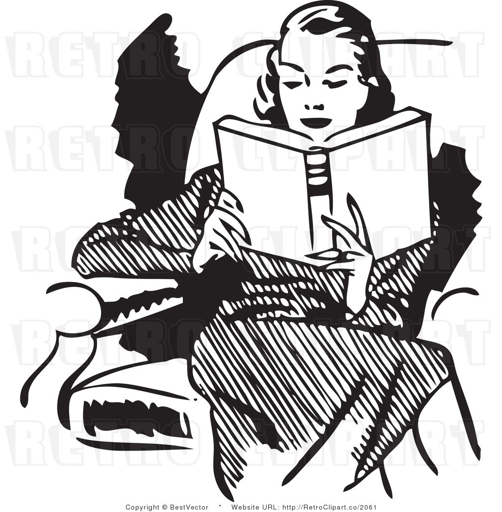 Woman reading clip art. Lady clipart book