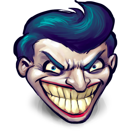 Comics batman joker icon. 512x512 png images
