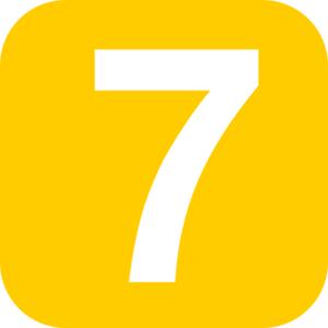 7 clipart. Number square orange clip