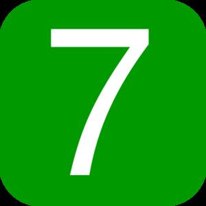 7 clipart. Green icon clip art