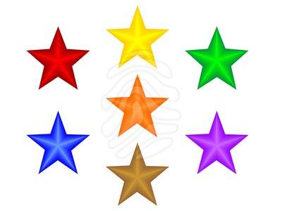 7 clipart 7 star. Clip art d stars