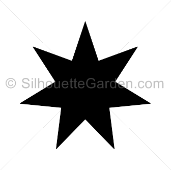 Seven pointed silhouette . 7 clipart 7 star