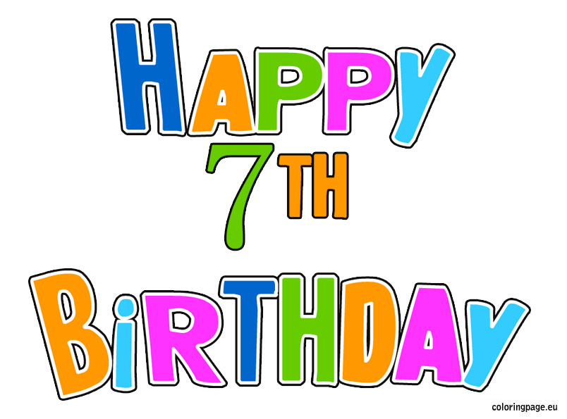 th birthday clip. 7 clipart 7th
