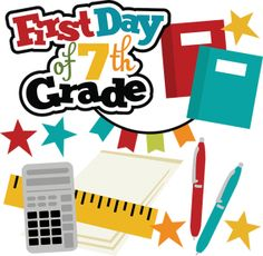 7 clipart 7th.  th grade student