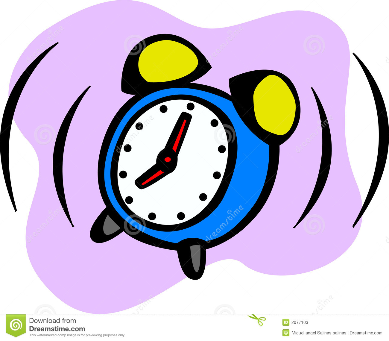 7 clipart alarm clock. Ringing