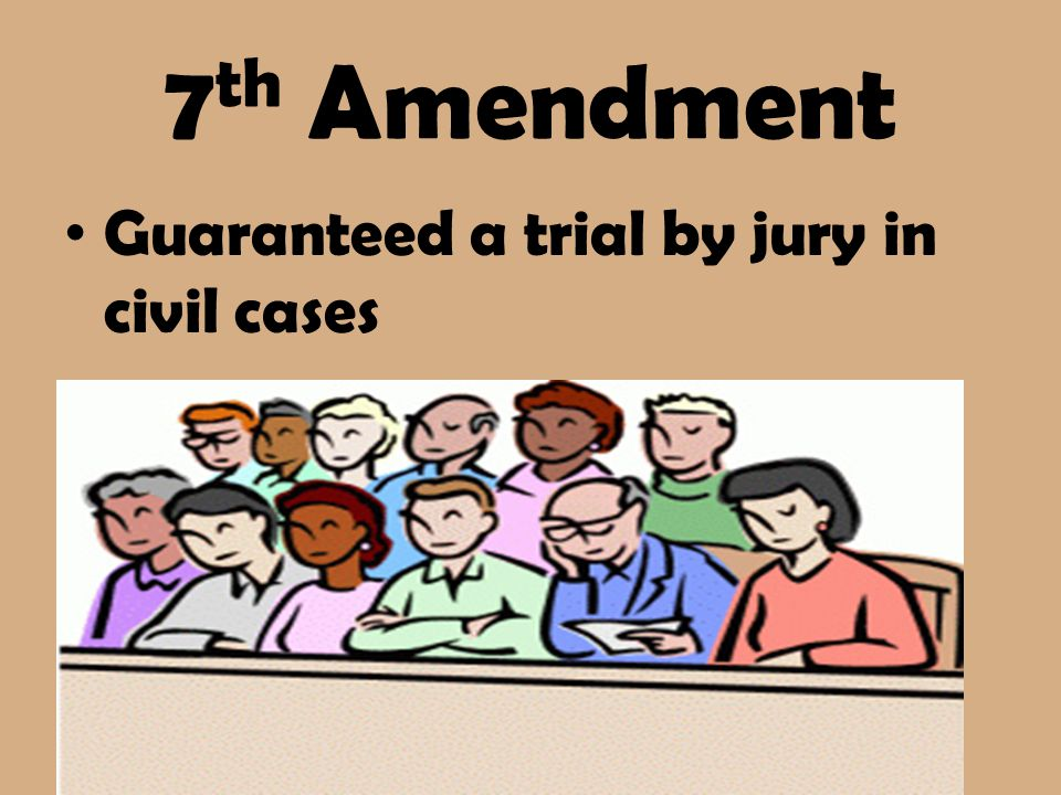 Bill of rights ppt. 7 clipart amendment