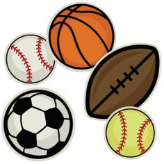 7 clipart ball. Sports clip art vintage