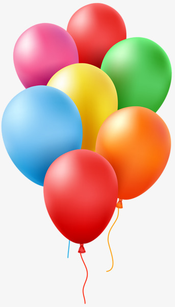7 clipart balloon. Bunch of colorful balloons